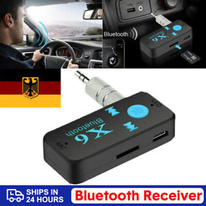 Car-Bluetooth-Music-Receiver-Aux-3-5mm-Adapter-Auto-KFZ-Wireless-Audio-Empfaenger