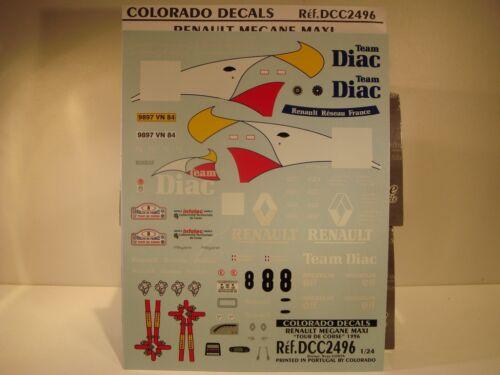RAGNOTTI TDC 1996 #8 DECALS 1//24  RENAULT MEGANE MAXI COLORADO  2496