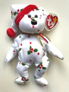TY Beanie Babies HOLIDAY TEDDY BEAR 6 December 1998 New TAG Retired ... b1c3b1c0f75d