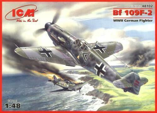 ICM 48102 WWII German Fighter Messerschmitt Bf 109F-2 1//48