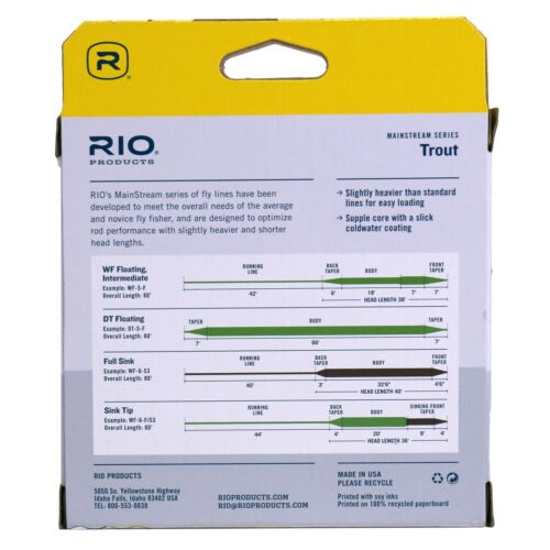 ON SALE NOW FREE SHIPPING ALL SIZES Rio Mainstream Trout DT Fly Line