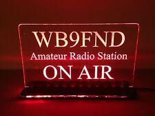 Multi Colors 110V Custom Engraved LED Ham Shack Amateur Radio Call Sign Plaque