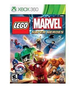 LEGO Marvel Super Heroes Xbox 360 Kids Game 1 Spider Man Avengers Hulk