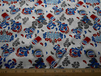 Novelty Fabric Bty Pepsi Splash Red Cans Caps On White Quality Quilting Cotton