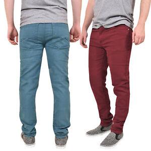 Mens-Slim-Fit-Jeans-Carbon-Skinny-Denim-Stretch-Pants-Basic-5-Pocket-Trousers