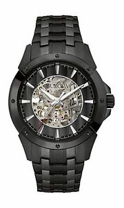 Bulova-Men-039-s-98A147-Automatic-Skeleton-Dial-Black-Bracelet-43mm-Watch