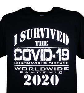 #1 I Survived Corona T-Shirt 2020 Pandemic 19 Corona Social Distancing New