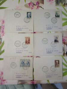6 lettre 1erjour de 1953 avec la serie 945 a 950 vbxfzIQe-07133243-925233055