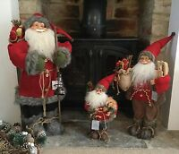 Gorgeous Father Christmas Santa Figurine Fur Boots Gisela Graham Vintage Figure