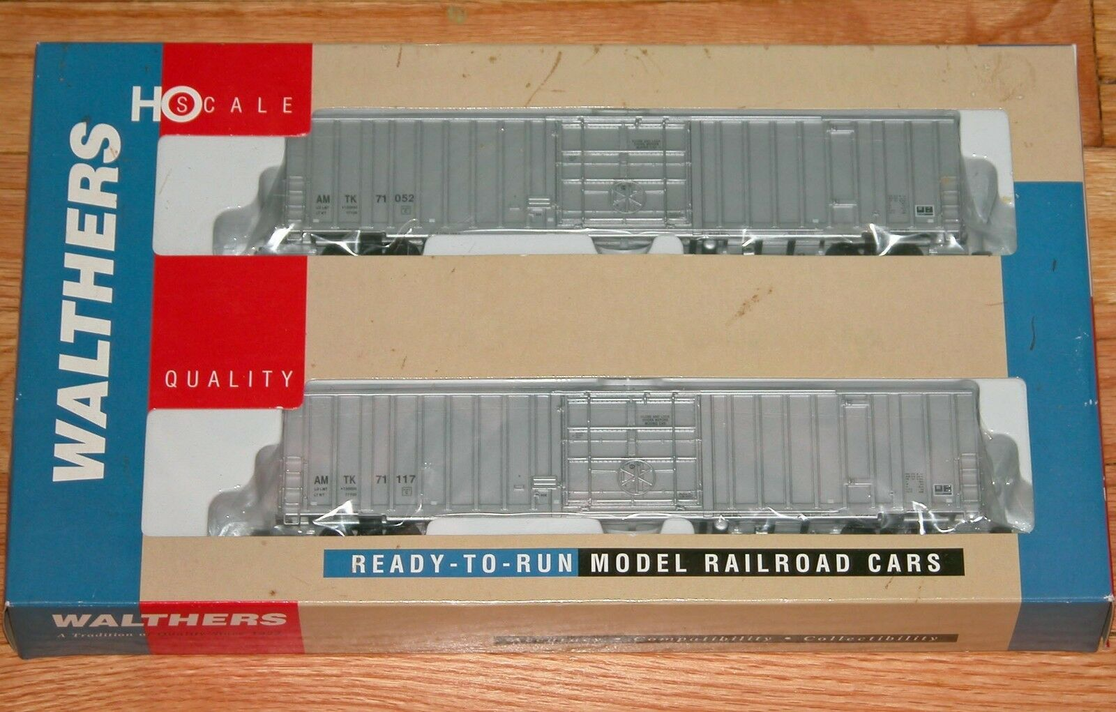 Walthers 932-26042 60' EXPRESS Furgón Amtrak Plateado   71052, 71117