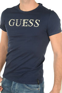Tee shirt Guess manches courtes Homme M72I56 Navy   eBay 2eaec805f0b