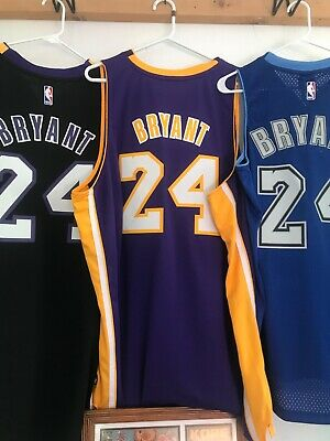 NEW Stitched On Numbers & Letters Kobe Bryant Purple Jersey #24 Super Nice ...