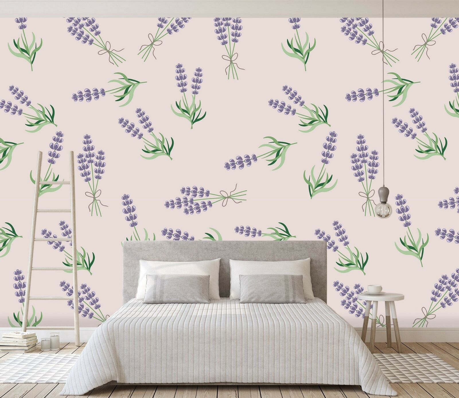 3D Lavender Graffiti 291 Wallpaper Mural Wallpaper UK Jenny