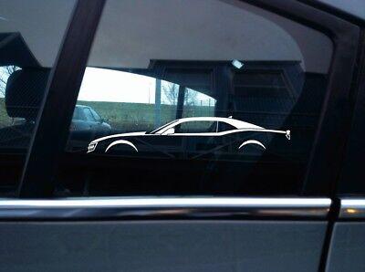 2x Car Silhouette Stickers For Chevrolet Camaro 5th Gen 2010 2015