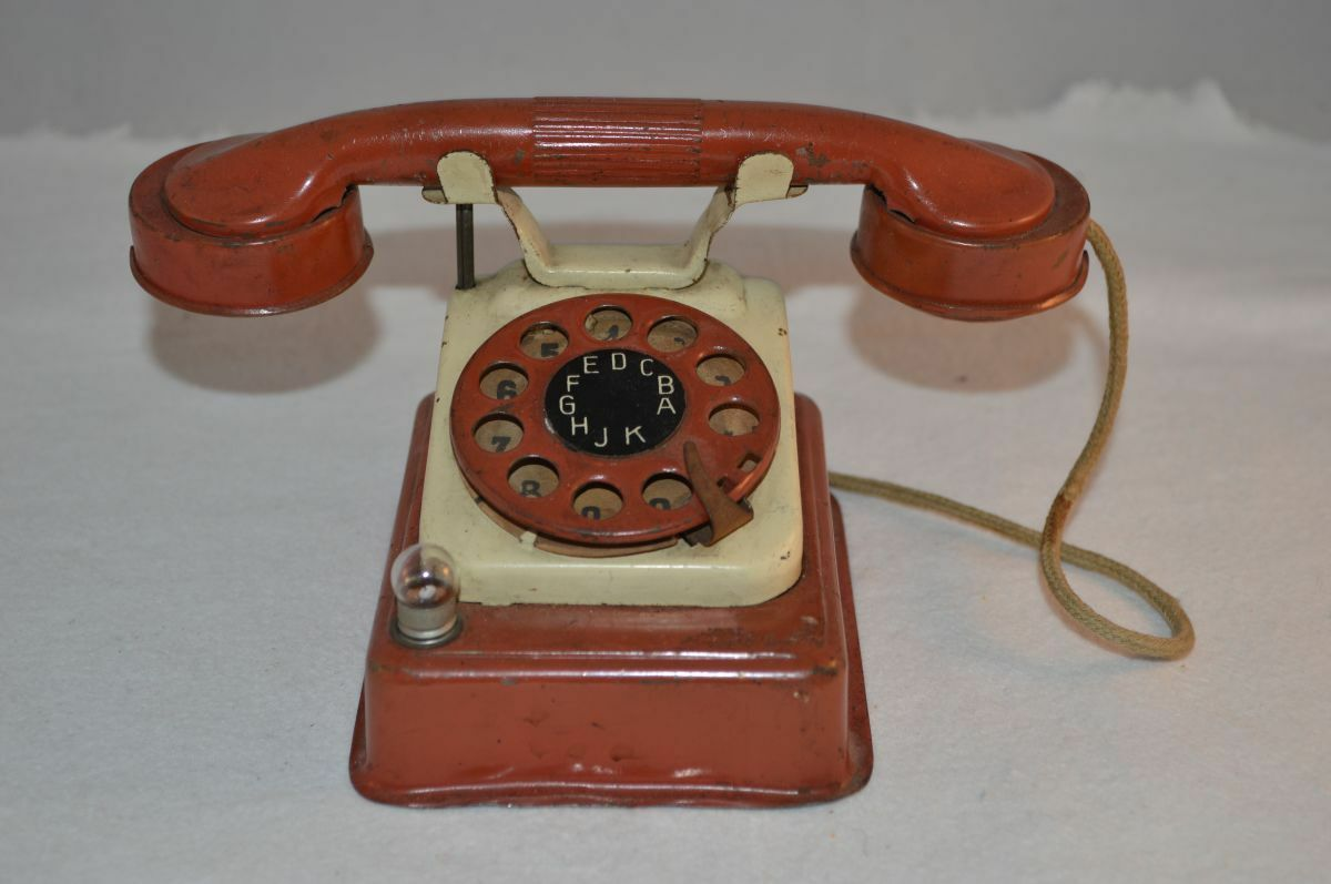 Tinplate telephone Foreign D.R.R in excellent plus  working original condition  parfait