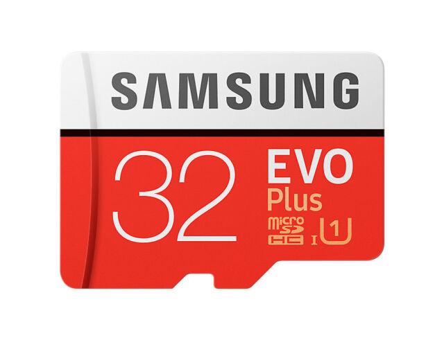 32GB Samsung EVO Plus microSDHC Speicherkarte + Adapter bis 95MB/Sek Class 10 U1