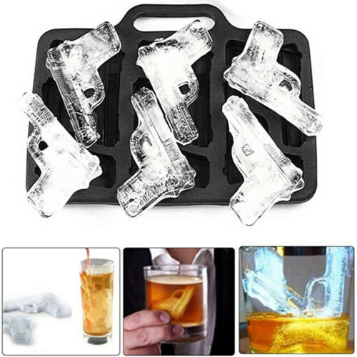 Plastic ICE Ball Maker Gun Shape Tray Cube Mold For Whiskey Cocktails Party