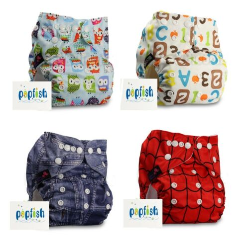Reusable /& Washable All in One Baby Nappy Birth to Potty Adjustable Diaper /& Pad