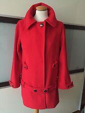 ZARA Mantel Jacke Wolle Wool rot red Coat Bloggers Gr. M 38