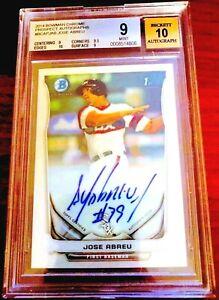 2014-Bowman-Chrome-Jose-Abreu-Autograph-RC-AUTO-MVP-0-5-from-GEM-9-5-BGS-9-10