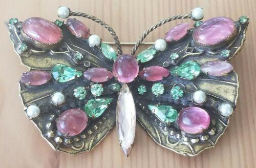 Vintage Original By Robert Huge Butterfly Brooch P