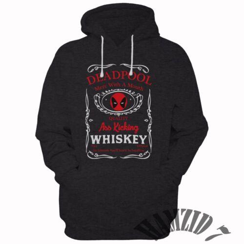DEADPOOL Whiskey Ask Kicking HOODIE SWEATER HOODIES Unisex Adult Clothing