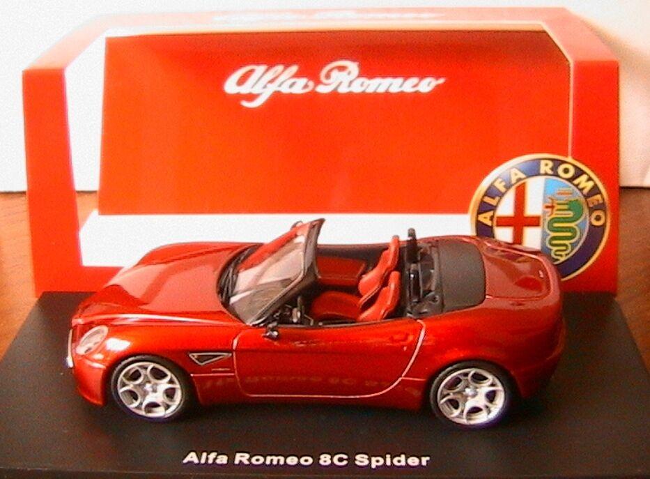 ALFA ROMEO 8C SPIDER 2008 ROUGE M4 7105 1 43 STORIA EDITION LIMITEE ITALIA