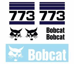 Bobcat 773 Skid Steer Set Vinyl Decal Sticker FREE SHIPPING 25 PC