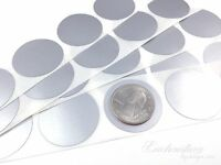 100 - Scratch Off Labels 1.25 Round Silver Stickers