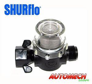 GENUINE Shurflo Water Pump Inline Water Filter 1/2 BSP Wing Nut to1/2 BSP, Male
