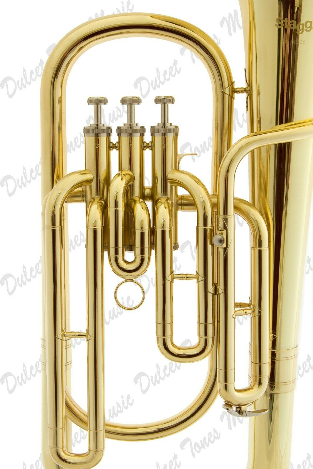 Musical Instruments & Gear Brass Stagg Bb Three Valve Baritone Horn Brass Body Clear Lacquer Finish Fast Postage