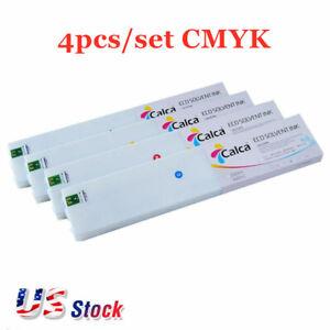 US Stock 4pcs/set CMYK Calca Compatible 440ml Roland ECO-Sol Max Ink Cartridge