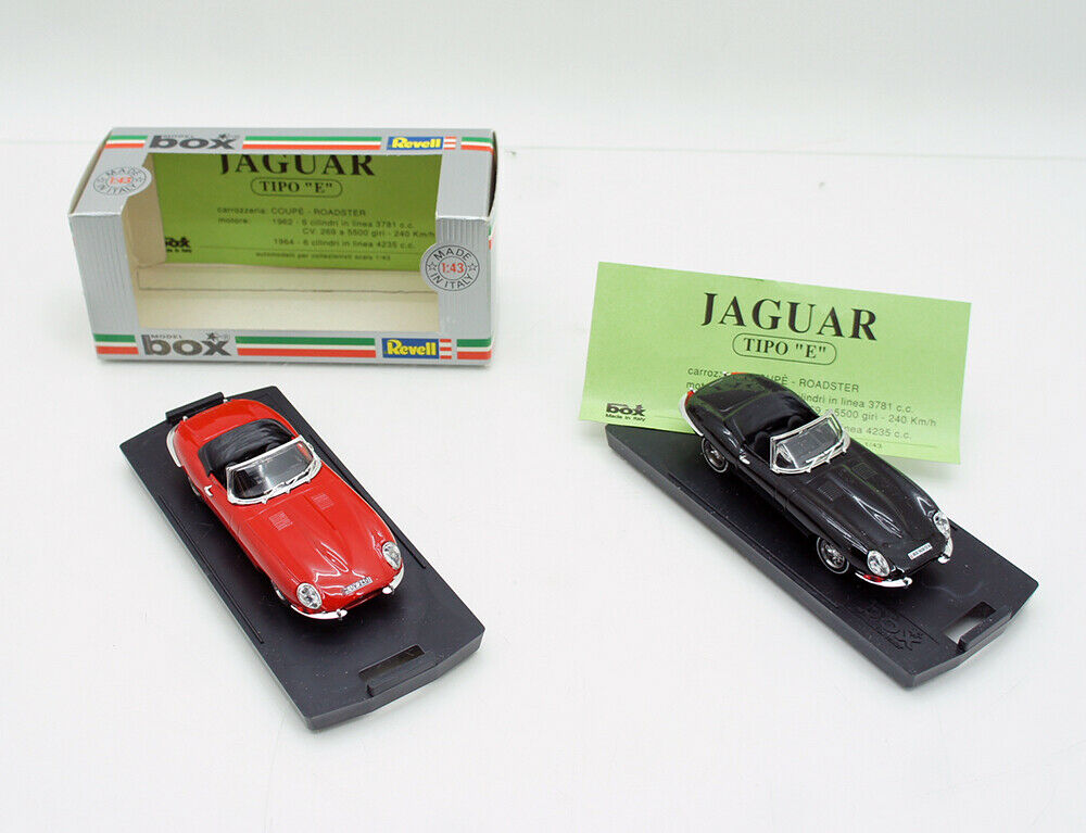 2x Revell Jaguar E-Type Cabrio black + + + red 1 43 mint sehr guter Zustand in OVP 700ba4
