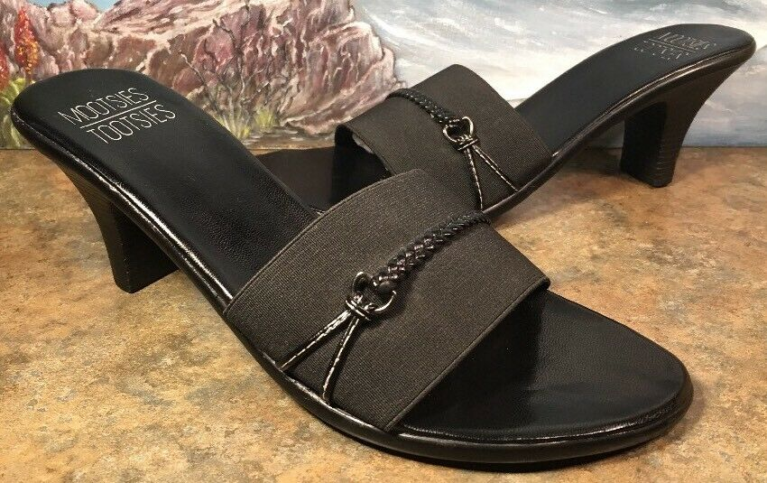 mootsies Block tootsies Sandal Black 7.5M Block mootsies Heel Stretch Fabric MOSKINNYMINI 11f125