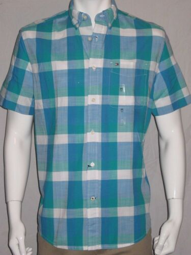 Tommy Hilfiger Mens Short Sleeve Classic Fit Button-Down Shirt NEW $45