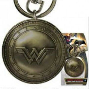 Wonder-Woman-New-034-WW-034-Chest-Logo-Brass-Metal-Pewter-Key-Ring-Keychain-NEW-UNUSED