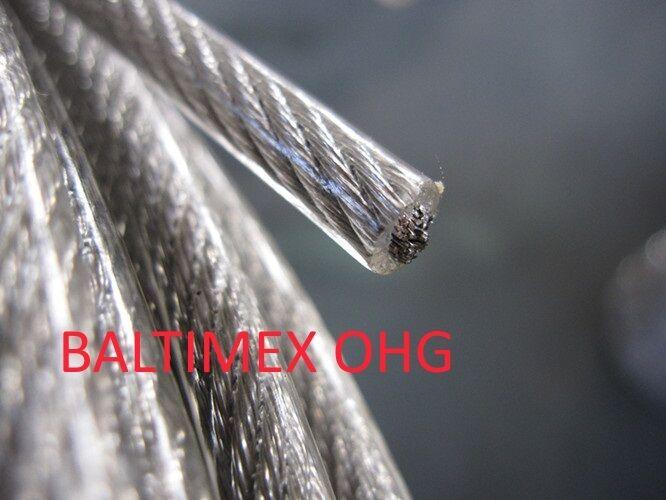 EDELSTAHLSEIL WEISS PVC UMMANTELT DRAHTSEIL RELING SEIL SEIL RELING GELÄNDER A4 CABLE INOX e46be2