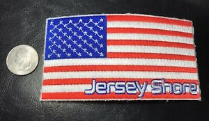 New-Large-embroidered-Jersey-Shore-USA-AMERICAN-FLAG-Patch