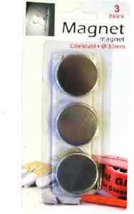 Aimant-rond-30mm-x-5mm-disques-Par-3-9-ou-19pcs
