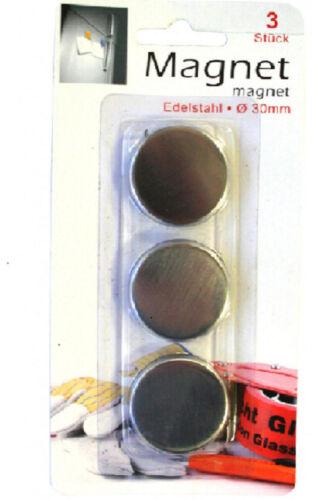 Destockage Aimant rond 4 ou 18 pièces 30mm x 5mm disques
