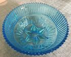 Beautiful Art Deco Blueish Glass Bowl C.1930 -1940's In Pristine Condition