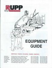 Equipment Brochure Rupp Construction Rental Guide C1993 E6337