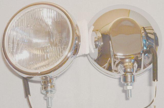 SPOT LIGHTS - pair - CHROME - 180mm diameter - 75mm deep