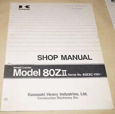 Kawasaki Model 80ZII Wheel Loader Service Shop Manual 80ZIIC-1101~