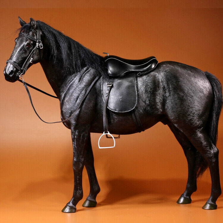 Mr. Z Alemania Hannover Hanoverian Caballo Negro modelo de escala 1 6 figura de 003 Nuevo