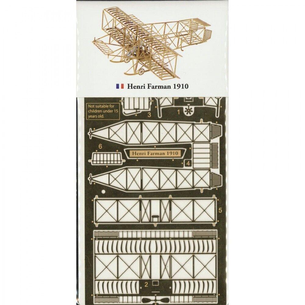 Aerobas Henri Farman 1910 B014 Brass modelllllerler Kit Micro vinge Serie tillverkad i japan
