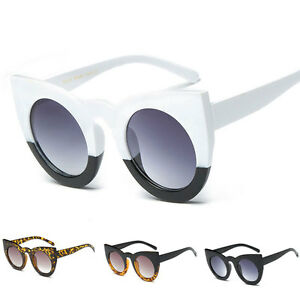 fac19df64f Image is loading Women-Fashion-Retro-Cat-Eye-Designer-Mirrored-Sunglasses-