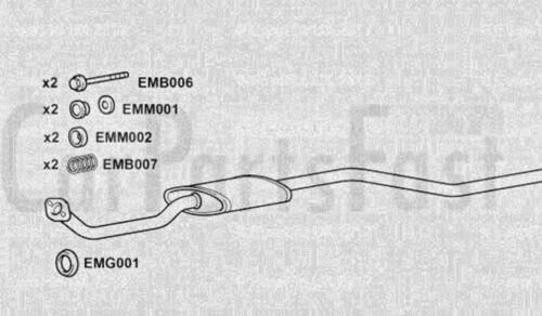 EXCN3034 EXHAUST CENTRE SILENCER 3Yr Warranty