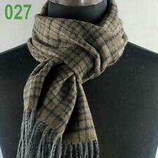 New Mens LONG 72in Warm Cashmere Wool plaid TARTAN SCARF Checked Scarf149027
