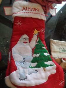 Pottery Barn Kids Christmas quilted stocking abominable ...